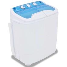 Mini wasmachine met dubbele trommel 5,6 kg