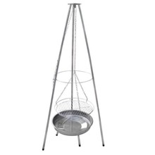 RVS hangbarbecue Ø 51 cm pyramide