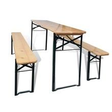 Biertafel met 2 bankjes inklapbaar 177 cm grenenhout