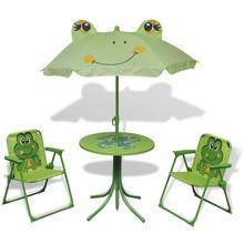 Bistroset met parasol voor kinderen groen