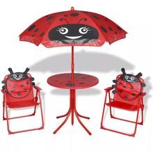 Bistroset met parasol voor kinderen rood