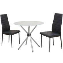 Eetkamerset tafel en stoelen 3-delig