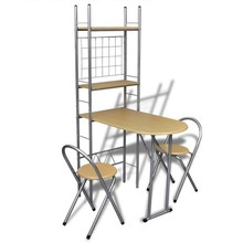 Ontbijttafelset met twee stoelen (inklapbaar)