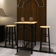 Bar met barkrukken (2 stuks)