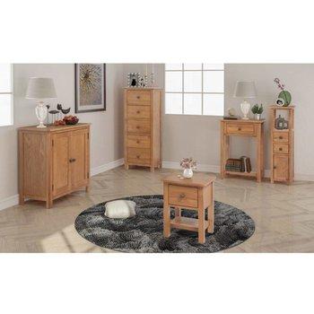 Woonkamer meubelset massief eikenhout 5-delig - Kijkalles