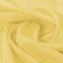 Stof voile 1,45x20 m geel