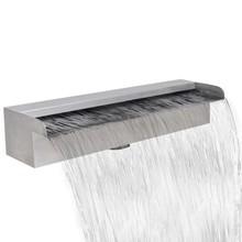 Waterval voor vijver/zwembad vierkant 45 cm RVS