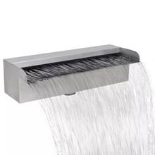 Waterval voor vijver/zwembad vierkant 30 cm RVS