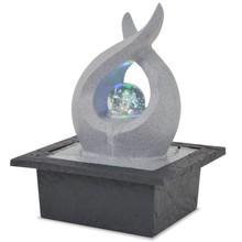Binnenfontein met LED-verlichting polyresin