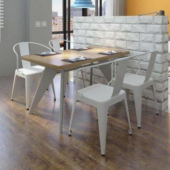 Eetkamer stoelen laag wit (set van 4) - Kijkalles