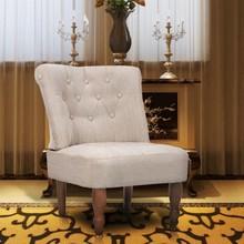 Franse stoel crème stof