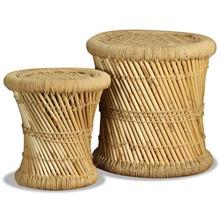 Krukkenset bamboe jute 2-delig