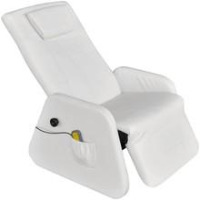 Elektrische massagestoel/relaxfauteuil kunstleer wit