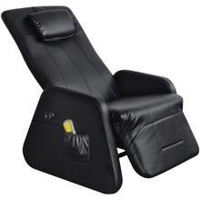 Elektrische massagestoel/relaxfauteuil kunstleer zwart