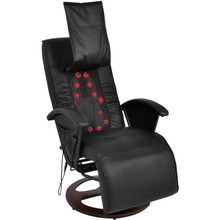 shiatsu massagefauteuil half PU zwart