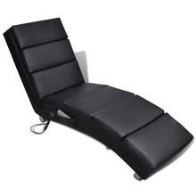 Massage ligstoel kunstleer zwart