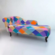 Chesterfield chaise longue ligstoel (patchwork)