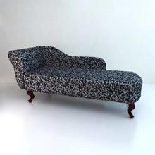 Chesterfield chaise lounge zwart