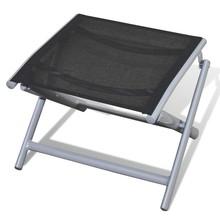 Opvouwbare voetenbank met aluminium frame