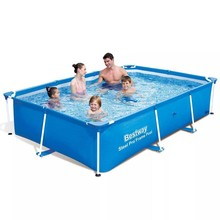 Bestway zwembad rechthoekig met stalen frame 259 x 170 x 61 cm 56403