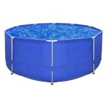 Opbouwzwembad met stalen frame 367 x 122 cm rond