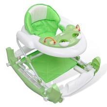 Loopwagen Baby deluxe XXL met muziek- en schommelfunctie (Groen)
