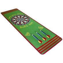 Darttapijt 79 x 237 cm groen en rood