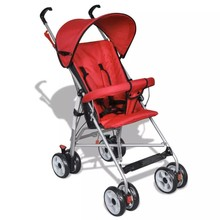 Moderne kinderwagen rood