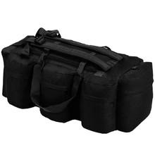 Sporttas 3-in-1 legerstijl 120 L zwart