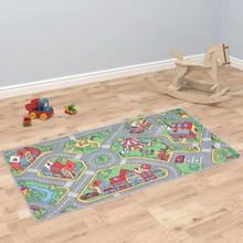 Speeltapijt 100x165 cm lussenpool stadswegenpatroon