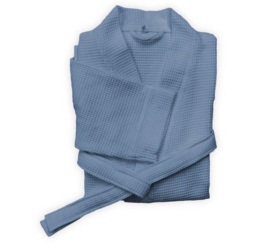 Badjas Wafel Steel Blue