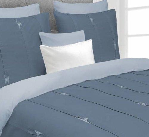 Heckett & Lane Dekbedovertrek Hopper Steel Blue / Artic Ice