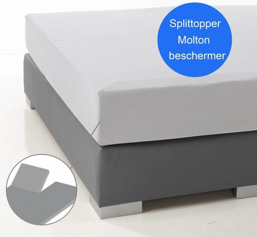 Molton Split Topper Katoen - Matrasbeschermer