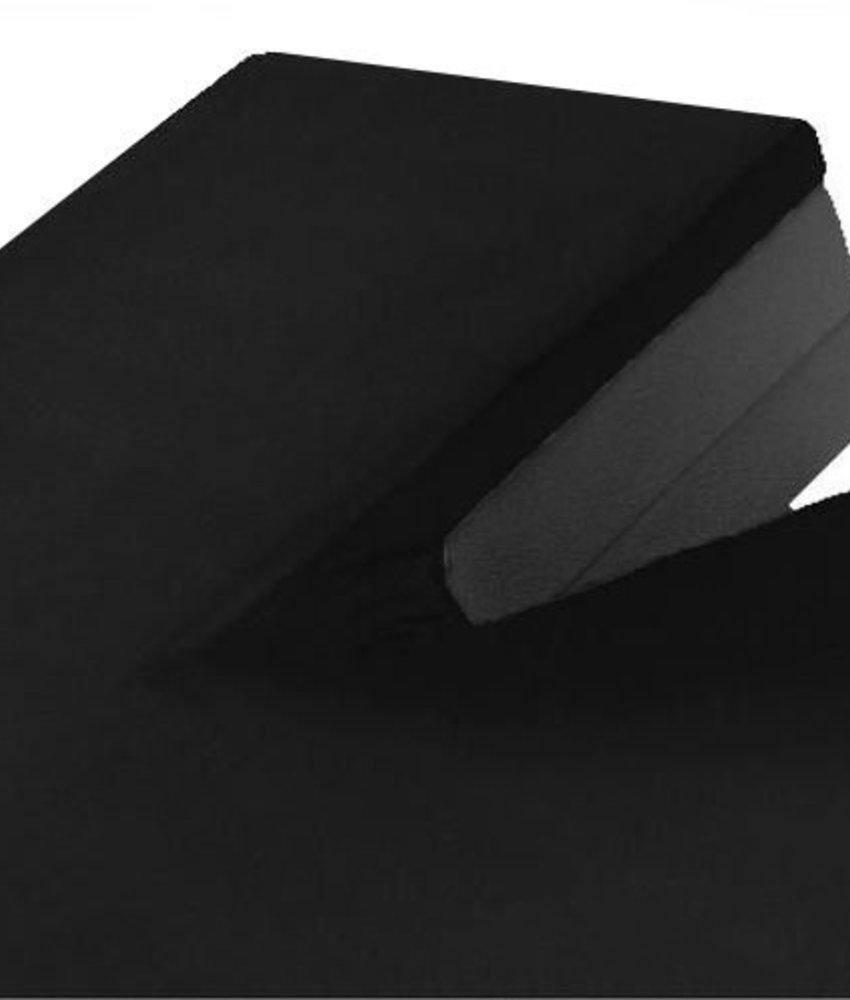 Split Topper Jersey Hoeslaken Zwart