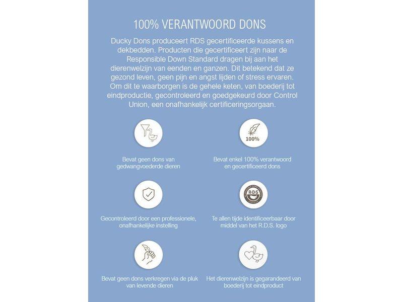 Ducky Dons 4 Seizoenen Donzen Dekbed - 15% Eendendons - Anti Allergie - Gecertificeerd