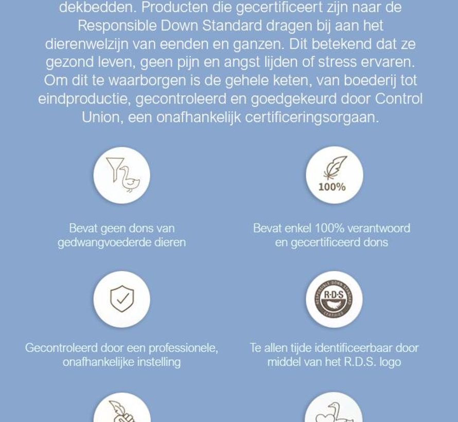4 Seizoenen Donzen Dekbed - 15% Eendendons - Anti Allergie - Gecertificeerd