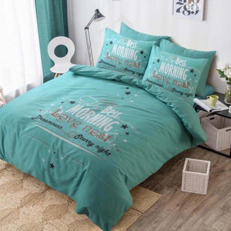 Dekbedovertrek Love Nest Turquoise
