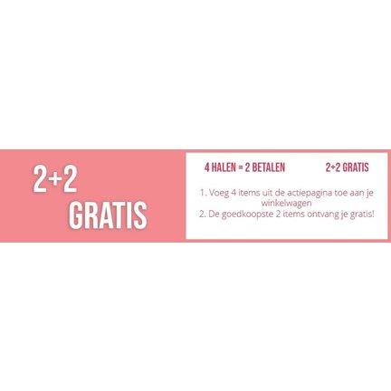 2 + 2 GRATIS  |  4 Halen = 2 Betalen