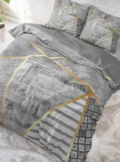 Sleeptime Pure Cotton Dekbedovertrek Graphic Grey