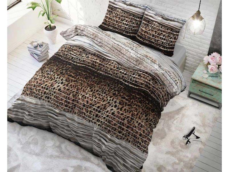Sleeptime Dekbedovertrek Panther Style Taupe