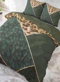 Sleeptime Pure Cotton Dekbedovertrek Panter Vibe Groen
