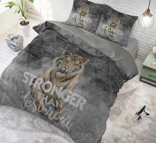 Sleeptime Pure Cotton Dekbedovertrek Stronger Grijs