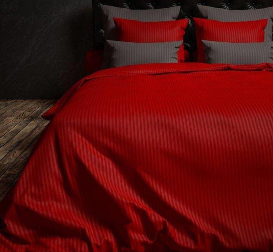 Dekbedovertrek Katoen Satijn Hotellinnen Rood