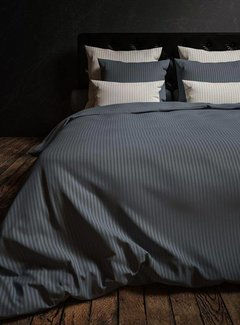 Heckett & Lane Dekbedovertrek Hotellinnen Staalblauw