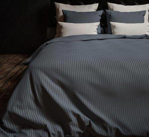 Heckett & Lane Dekbedovertrek Katoen Satijn Hotellinnen Staalblauw