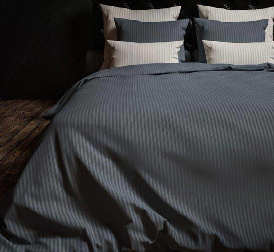 Dekbedovertrek Katoen Satijn Hotellinnen Staalblauw