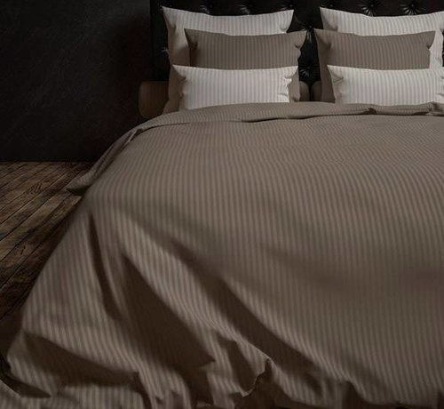 Heckett & Lane Dekbedovertrek Katoen Satijn Hotellinnen Taupe Grey