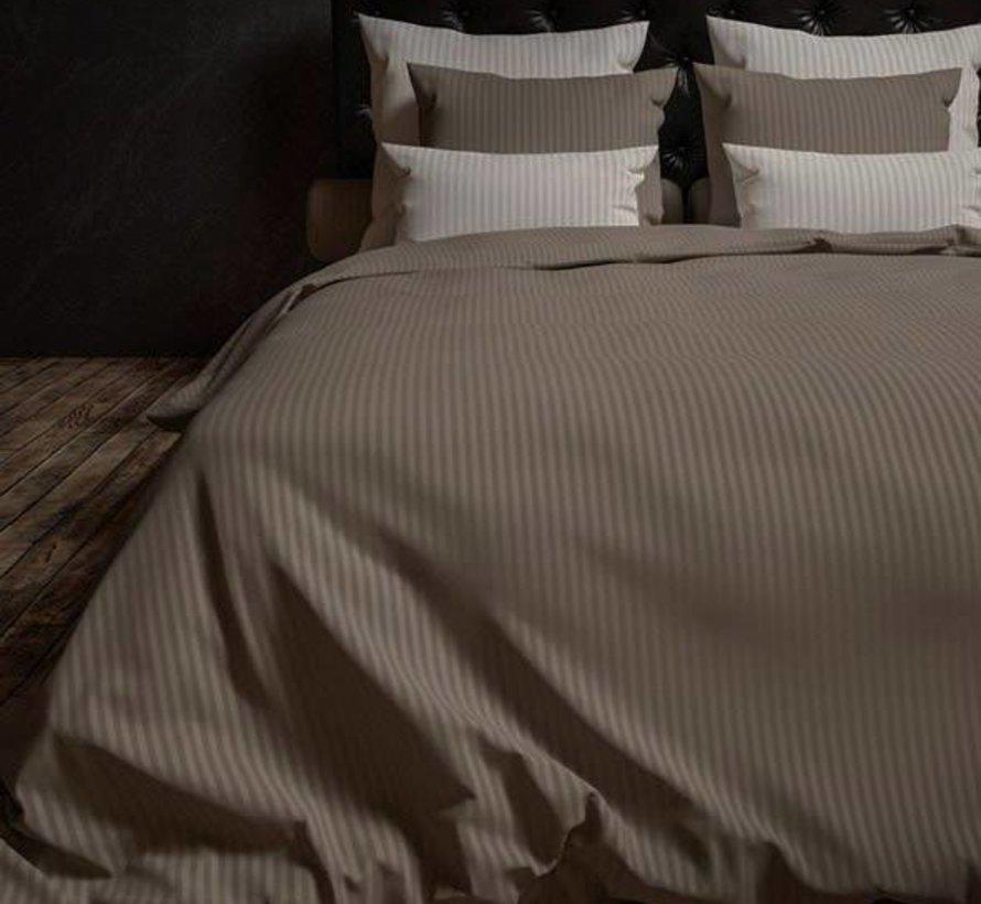 Dekbedovertrek Katoen Satijn Hotellinnen Taupe Grey