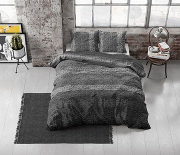Dreamhouse Bedding Dekbedovertrek Flanel Gradient Knits Antraciet