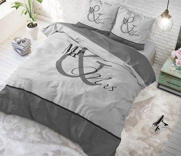 Dreamhouse Bedding Dekbedovertrek Mr and Mrs Marble Antraciet